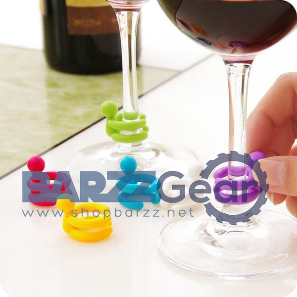 Wine Cup Mixproof Silicone Marker Bars/Party Prevent Confuse Rubber Wine Glasses Label
