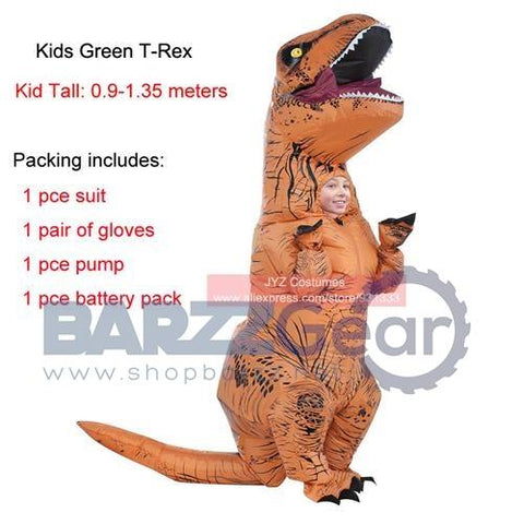 T-REX Inflatable dinosaur costume for adults Halloween costume Fan Operated disfraces adultos jumpsuit Fancy Dress Outfit Suit
