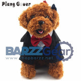 et clothes dog upper garment Gentleman Suits Formal Party Costume with Bow Tie Corduroy
