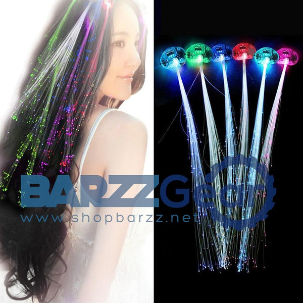 LED Fiber Optic Hair Braid Lights Costume Party Fancy Headwear Decoration 12pcs