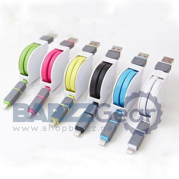 Stretchable USB Data Cable Power Charging Line For iphone & Android  Random Color