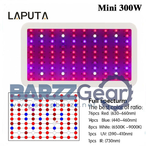Led Grow Panel Lamp 300W Full Spectrum Mini LED Plant Grow Light Hydroponic System UV IR