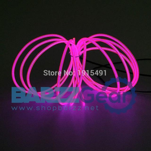 Top Selling Diy Neon Led Strip Light Up Butterfly Knot Dress Up Costume Style of Matchstick Beauty EL Wire Cable Rope Clothes