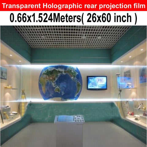 FREE SHIPPING On Sale Transparent Hologram Rear Projection Screen Film For Shop Window
