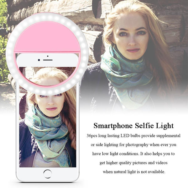 Selfie Portable Flash Led  Night Light Camera Phone Photography Ring Light Enhancing Photography for iPhone Samsung