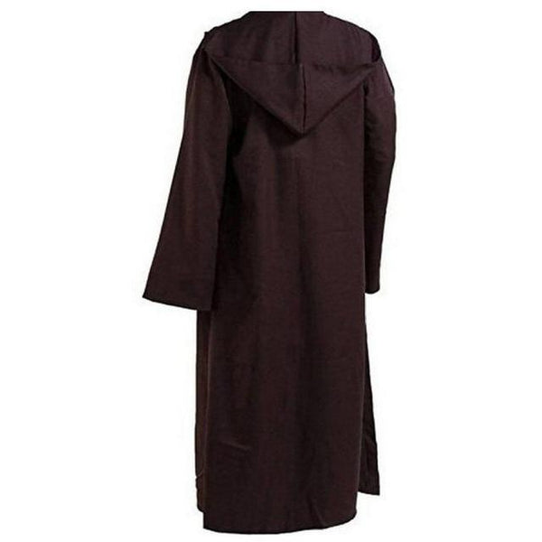 Men Halloween Star Wars Jedi Cloak Cos Play Adult Hooded Robe Cloak Cape Halloween Costume Black Brown NEW