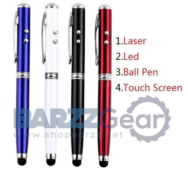 4in1 Laser Pointer LED Torch Touch Screen Stylus Ball Pen for Phone Pad