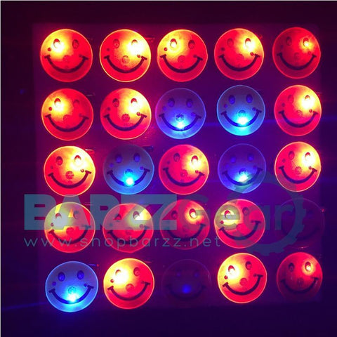 Costume Leds 50pcs/lot Led Smiley Badge Yellow Smile Flashing Light Up Brooch Toys Glow Disco Ktv Party Christmas Halloween