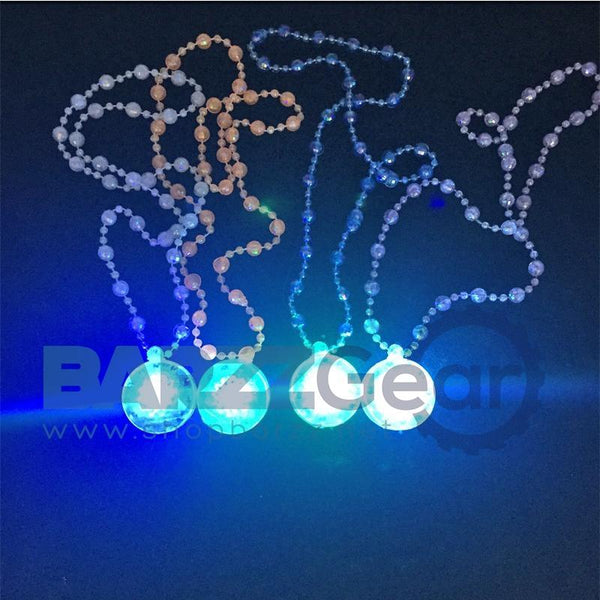 Costume Leds Promotion 72pcs/lot 2017 Cartoon Light Up Led Flashing Bead Flower Necklace Rave Toys Party Glow Chrismas Neon
