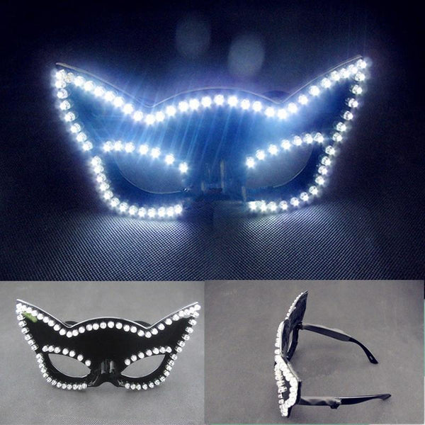 Newest Led Illuminated Carnival Masquerade Party Fasion Mask  LED Luminous Flashing Glasses Nightclub Costume Stage Wear