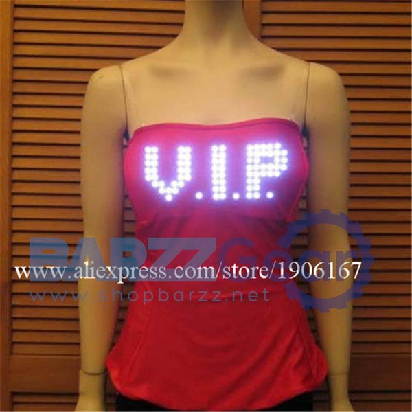 New Led Light Up Luminous Glowing Costume Camisole Clothes Stage Performance Women Vest Clothing Costume Novelty Gift