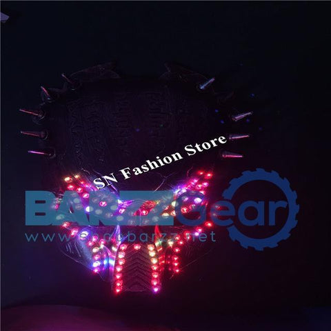 T40 RGB lighting led mask colorful luminous bar ballroom dance led costumes dj singer stage Halloween wears cosplay dj clothing