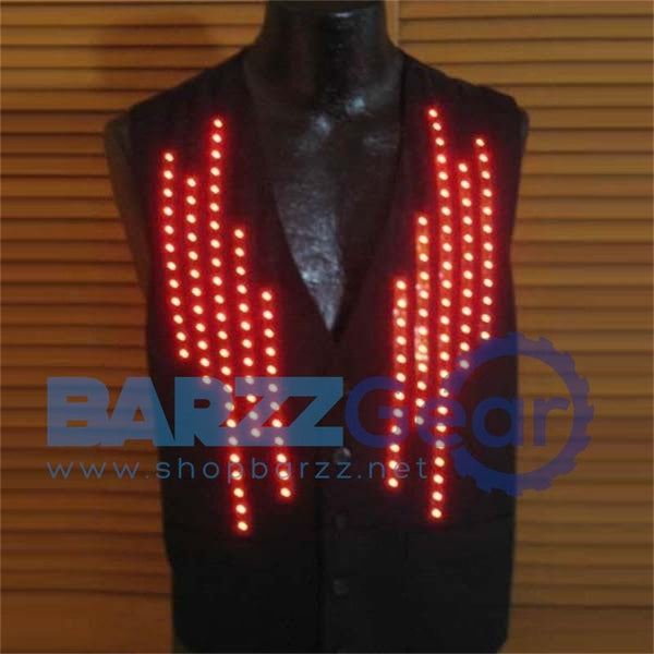 Hot Sale Growing Novelty V-neck Man's Vest Led Luminous Waistcoat LED Flashing Costume KTV Bar Dancing Wear