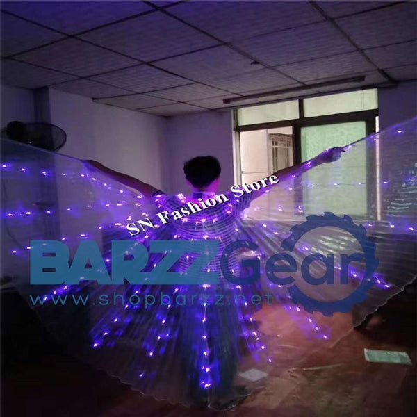 L100 Led dance costumes with light luminous glowing led cloak Light Up stage show clothes singer dj wears led costumes party