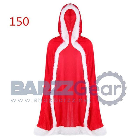 Santa Claus Cloak Hooded Women Christmas Dress Costume Cape Long Cardigan Gifts