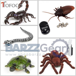TOFOCO Infrared Remote Control Cockroache/Snake/Spider/Scorpion/Turtle Mock Fake RC Toy Animal Trick Novelty Shocke Jokes Prank