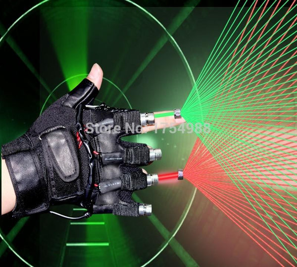 led Party decorations 3 in 1 laser glove dancing stage show red green 4 pcs laser led glove