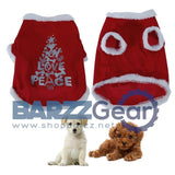 Pet Dog Clothes Winter Plush Santa Christmas Dog Clothes for Small Dog Coat Jacket Puppy Cat Animal Clothes Pet Costume S-XL