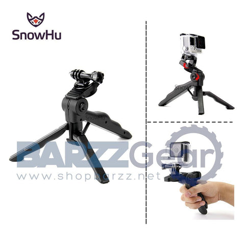 SnowHu for Gopro Accessories High-end Tripod Monopod for Go Pro Hero 5 4S 4 3+ 3 2 for XIAOMI Yi 2 for SJCAS J4000 camera GP237