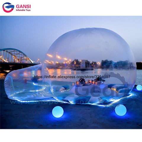 PVC tarpaulin camping igloo inflatable bubble house clear tent for relaxing 4m diameter inflatable transparent tent for sale
