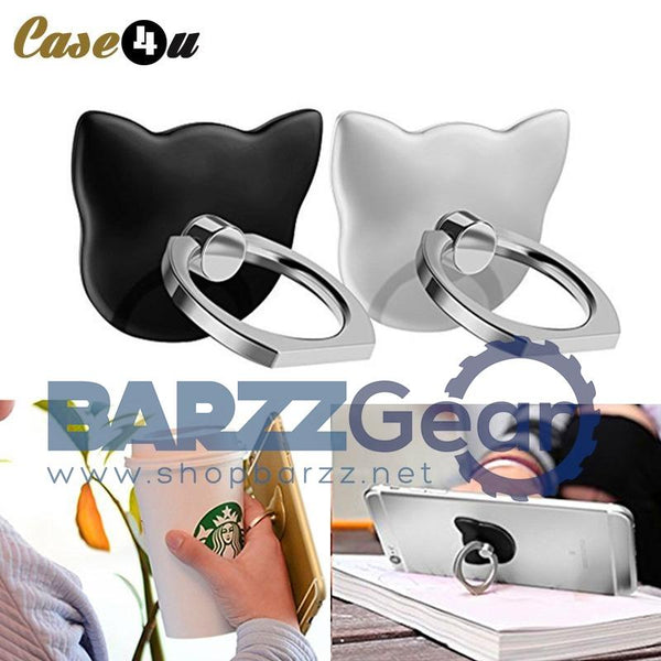 Cute Cartoon Bear/Cat Shaped Ring 360 Degree Metal Finger Ring Holder For iPhone Samsung Cell Phone Holder Ring Tablet Support