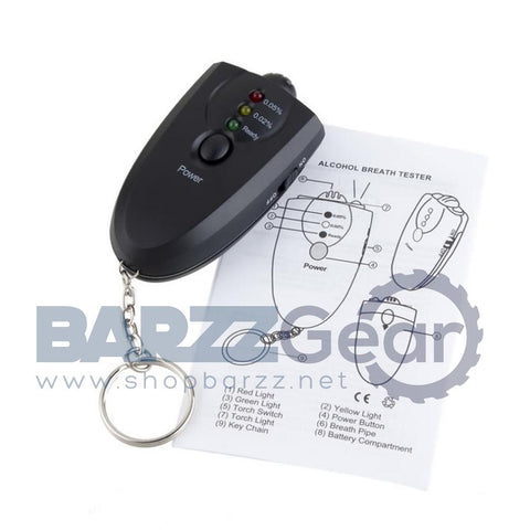 Portable Keychain LED Alcohol Tester Breathalyzer