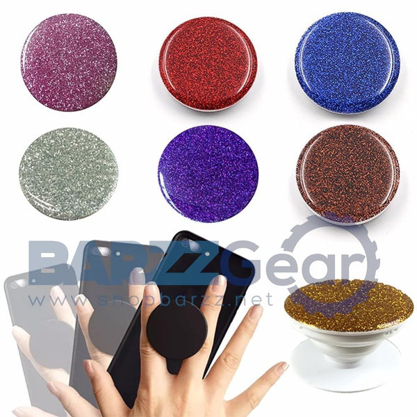 NEW Crystal Glitter Telescopic Phone Finger Holder For iphone Samsung Xiaomi Mobile Smartphone Stand Holder