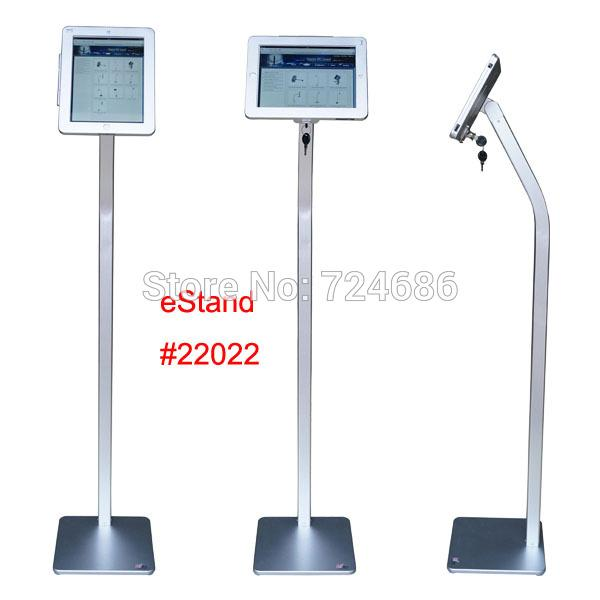 Tablet Security Floor Stand Display Kiosk for iPad 2/3/4/air/pro 9.7 inch Standing support with lock anti-theft enclosure