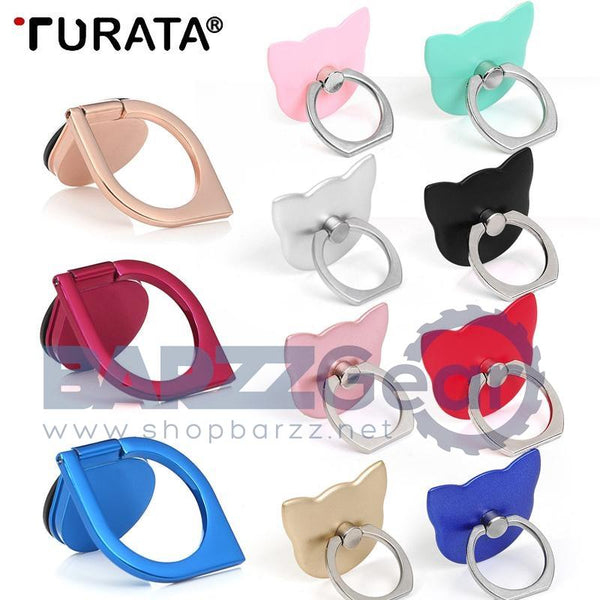 Turata Universal Pop Phone Holder 360 Degree Finger Ring Holder Expanding Stand and Grip Mount For Airpods iPhone Samsung Huawei