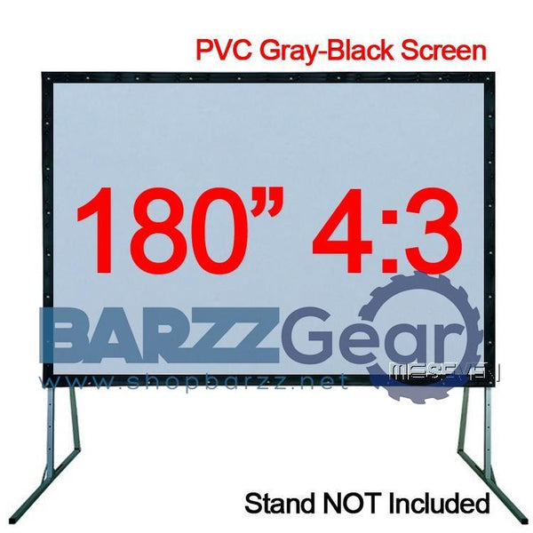 Gray-Black Soft Front HD Projection Screen 180 inches 4:3 PVC Fast Fold for Any Home Theater Projector