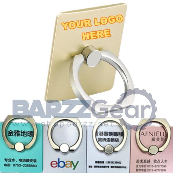 100 pcs/lot Your LOGO Customized Phone Bracket Ring 360 Degree Finger  Ring  Phone Smartphone  Holder Gift Box Packing