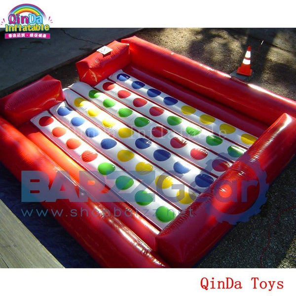 5*5m giant commercial rental twister game inflatable twister mat for kids and adult