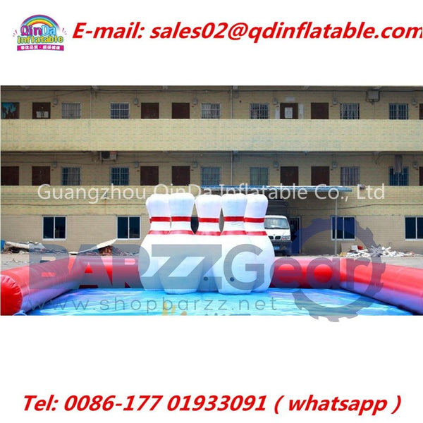 2m Inflatable Human Blowing Ball, Giant Inflatable Bowling Ball Game,Human Zorb Bowling Game