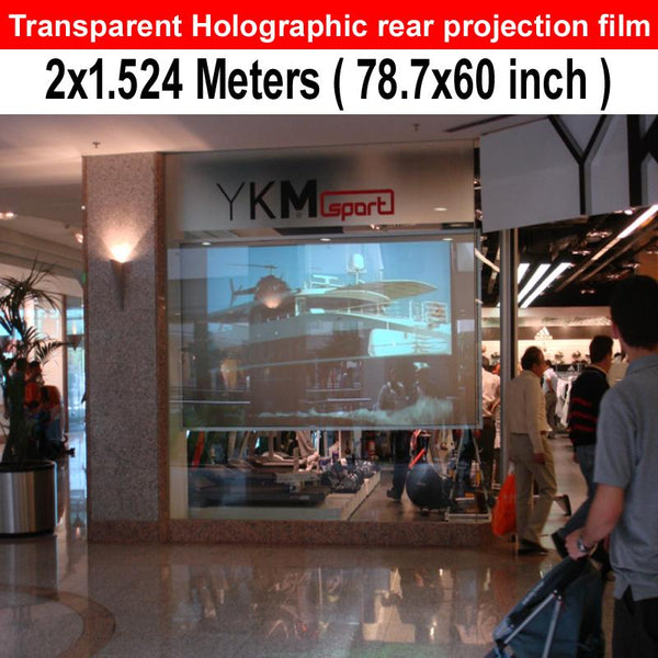 Fast Shipping 78.7 X 60INCH High Resolution Holographic  Adhesive Rear Projection Foil For Transparent Window Displays