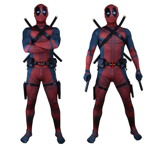 Adult Children Superhero Cosplay Deadpool Costume Halloween Costume Deadpool Cosplay with Mask Halloween Costume for Men