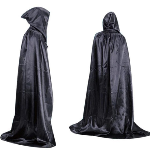 New Solid Hooded Stain Cloak Wicca Robe Witch Larp Cape Women Men Halloween Costumes Witche Vampires Fancy Party 3 Colors AU073