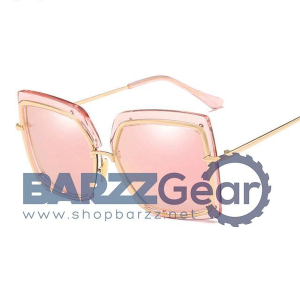 Fashion Oversized Sunglasses Women Metal Square Sunglass 2018 Brand Female Shades Mirror Big Size Frame Sun Glasses Gafas