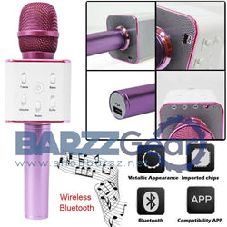 Wireless Karaoke Microphone Handheld Bluetooth Speaker 2-in-1 Microfoon Portable Condenser Microphone KTV Player for iOS Android