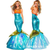 Valentine's Day Costume Halloween Costume cos mermaid dress adult sexy skirt cosplay costume