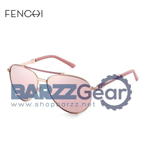 FENCHI Sunglasses Women Driving Pilot  Classic Fashion Sunglasses High Quality Metal Brand Designer Glasses