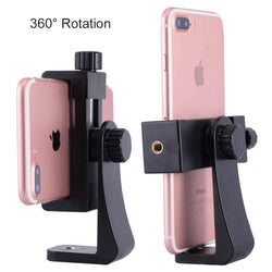 ightpro Universal Cell Phone Tripod Mount Clamp Clip Adapter Holder Vertical 360 Rotation for iPhone 8 X 7plus Smartphone