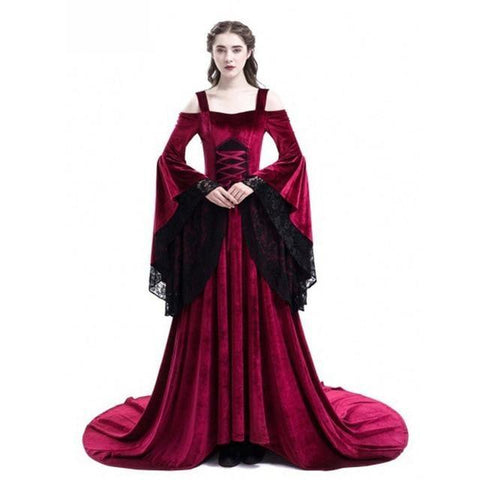 Cosplay Halloween Dress Medieval Palace Princess Dress Adults Women Gothic Queen 2018 Plus Size 4xl 5xl Party Halloween Costumes