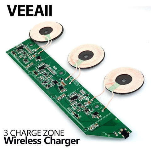 VEEAII  Qi Wireless Charger 10W 7.5W PCBA For Samsung galaxy s9 S8 S7 Circuit Board Coil Wireless Charging Micro USB Port DIY