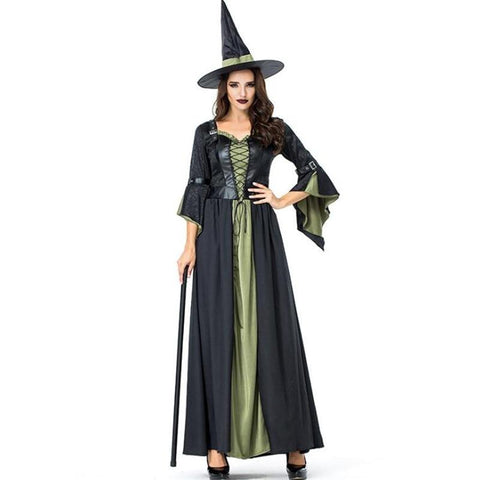 Deluxe Women Witch Cosplay Halloween Costume For Women Adult Party Performance Clothing