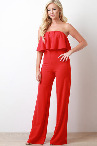 Flutter Tube Wide Leg Jumpsuit