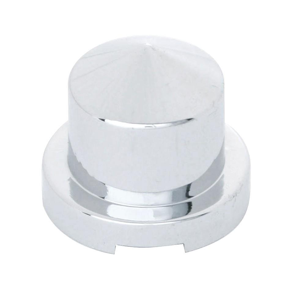 "1/2"" x 1"" Chrome Plastic Pointed Nut Cover - Push-On"