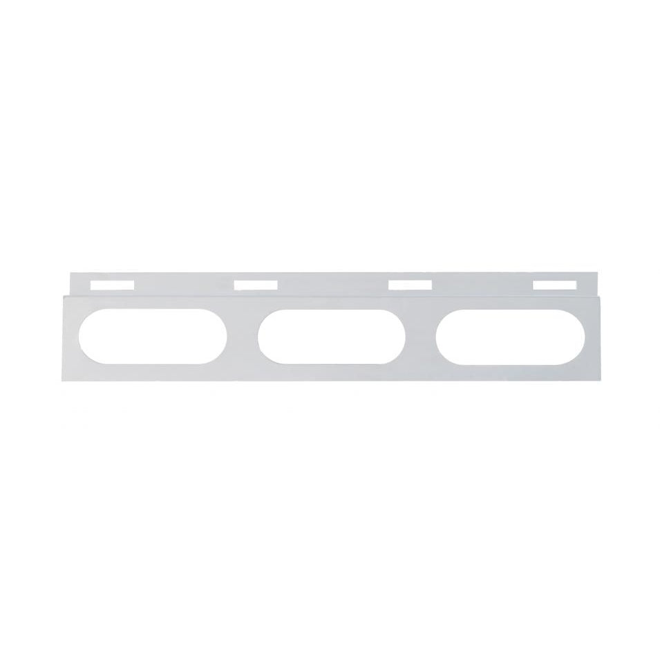 Stainless Top Mud Flap Bracket - 3 Oval Light Cutout