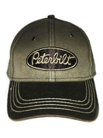 Peterbilt Washed Canvas Brown Baseball Cap