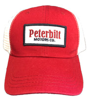Peterbilt Motors Co Red and White Cap