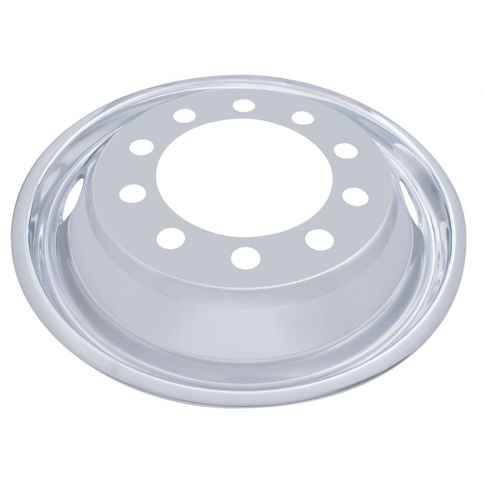 "22 1/2"" OD Stainless Front Wheel Cover Only - 2 Vent Hole, Stud Piloted"